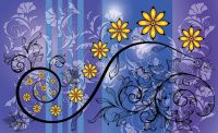 Abstract flower art wall murals for wall | Homewallmurals ...